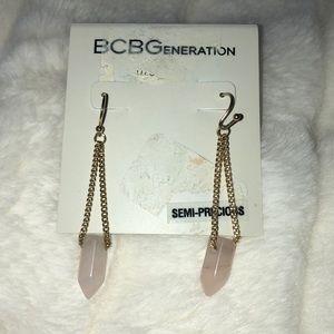 BCBGeneration Rose Quartz Earrings
